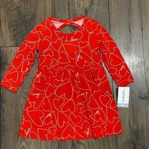 Carter's Girls Red Dress with hearts